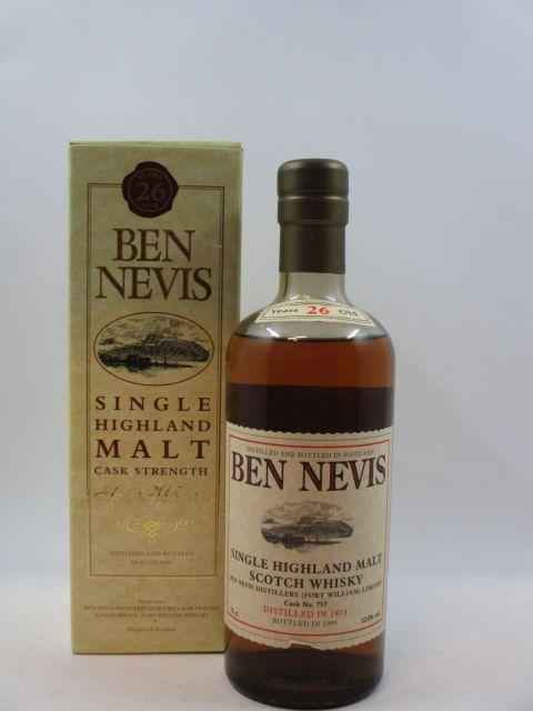 1 bouteille WHISKY BEN NEVIS 1973  Single Highland Malt Scotch Whisky
