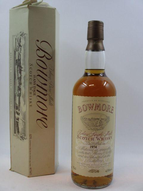 1 bouteille WHISKY BOWMORE 1974 15 years