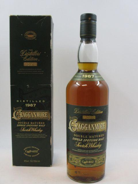 1 bouteille WHISKY CRAGGANMORE 1987 Limited Edition