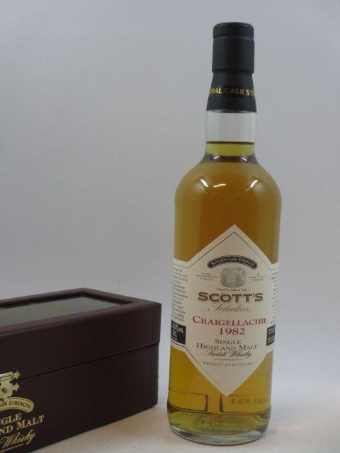 1 bouteille WHISKY CRAIGELLACHIE 1982 Single Highland Malt Scotch Whisky