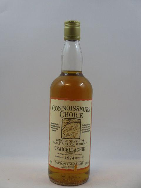 1 bouteille WHISKY CRAIGELLACHIE - GORDON & MCPHAIL 1974  Single Speyside Malt Scotch Whisky