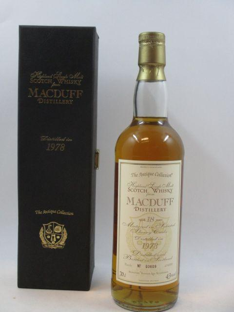 1 bouteille WHISKY MACDUFF 1978 18 ans