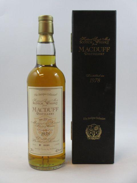 1 bouteille WHISKY MACDUFF 1978 The Antique Collection