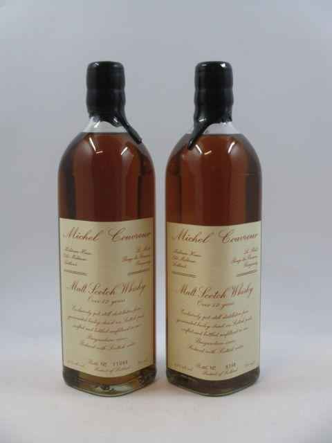 2 bouteilles WHISKY MICHEL COUVREUR Over 12 years