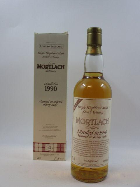 1 bouteille WHISKY MORTLACH 1990  Single Highland Malt Scotch Whisky
