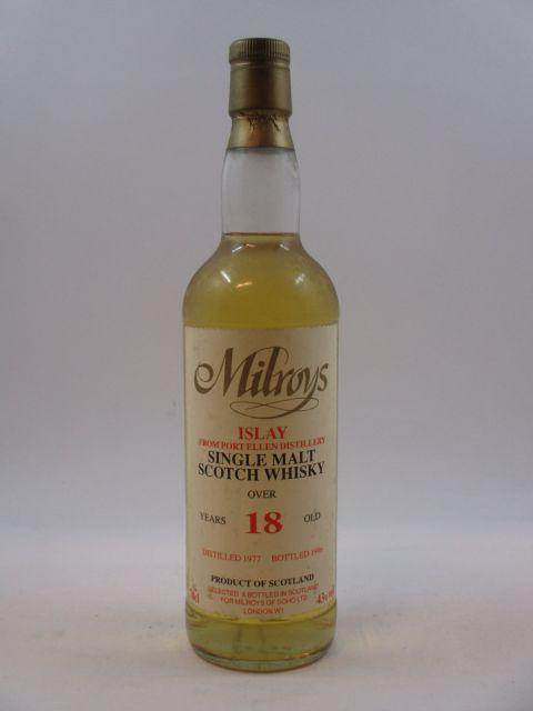 1 bouteille WHISKY PORT ELLEN - MILROYS 1977 18 years old