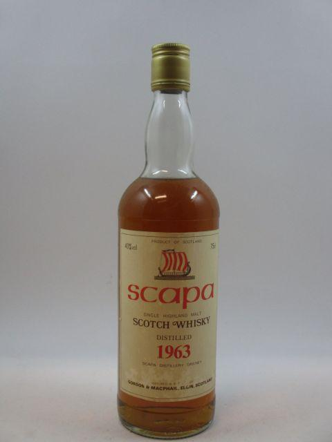 1 bouteille WHISKY SCAPA - GORDON & MCPHAIL 1963  Single Highland Malt Scotch Whisky