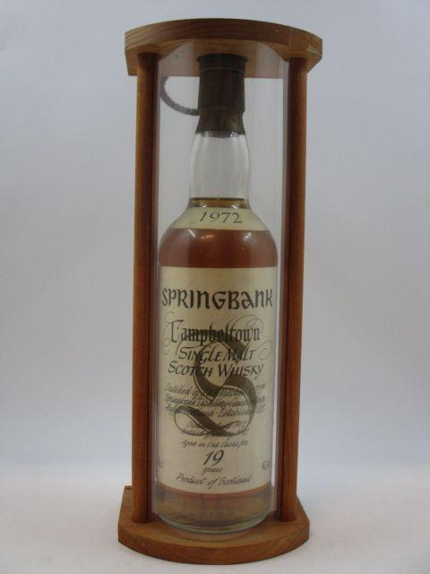 1 bouteille WHISKY SPRINGBANK 1992 19 years