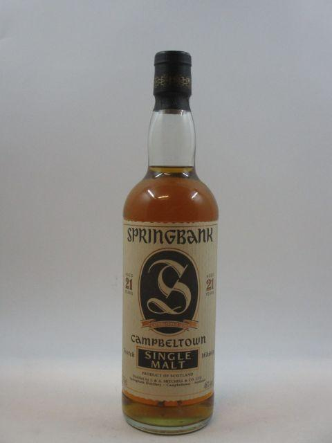 1 bouteille WHISKY SPRINGBANK 21 years