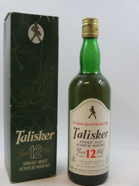 1 bouteille WHISKY TALISKER 12 years