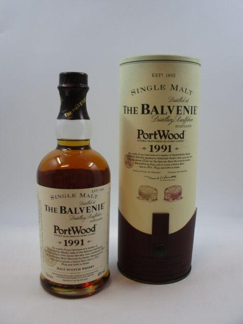1 bouteille WHISKY THE BALVENIE 1991 Extra Matured in Port Casks