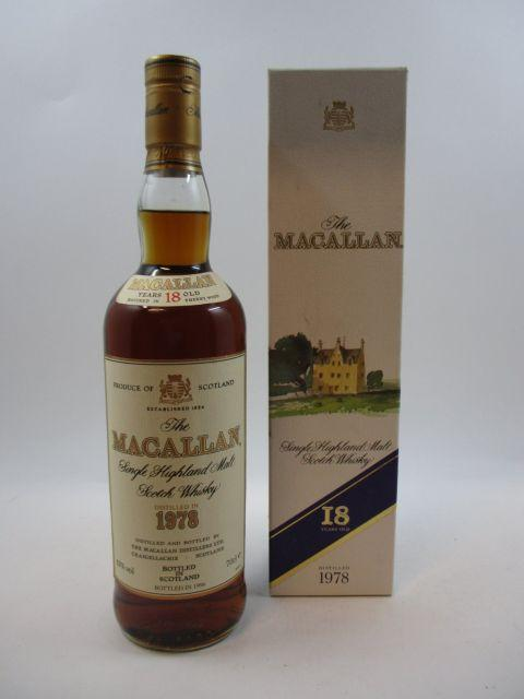 1 bouteille WHISKY THE MACALLAN 1978 18 years old