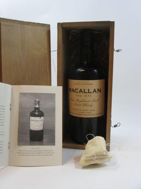1 bouteille WHISKY THE MACALLAN Replica 1874 (réplique de la bouteille de 1874