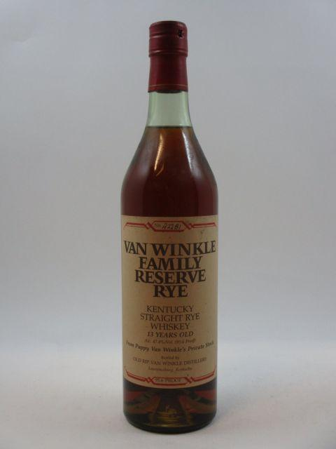 1 bouteille WHISKY VAN WINKLE FAMILY RESERVE RYE Kentucky Straight Rye Whiskey
