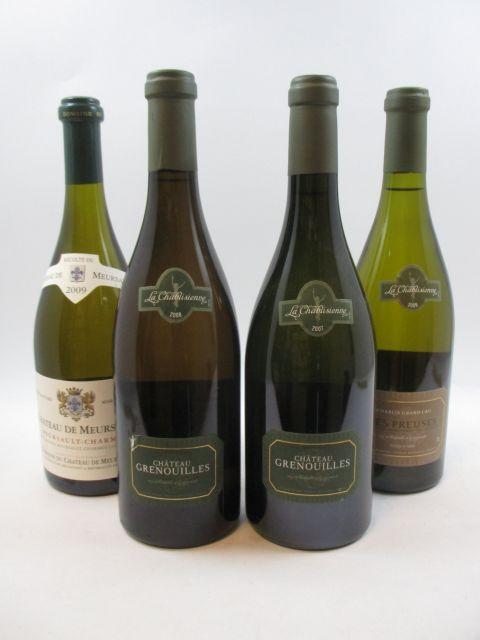 6 bouteilles 2 bts : CHABLIS 2007 Grand Cru Grenouilles. Château Grenouilles. La Chablisienne