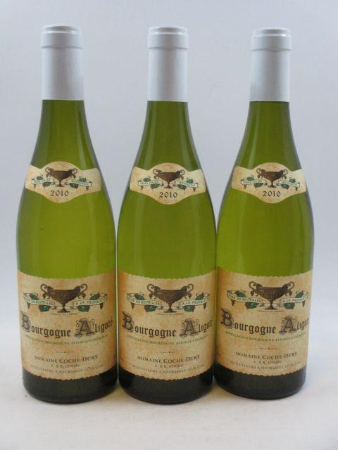 3 bouteilles BOURGOGNE 2010 Aligoté