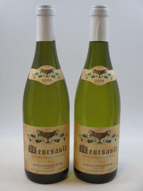 2 bouteilles MEURSAULT 2009 Coche Dury (cave 10)