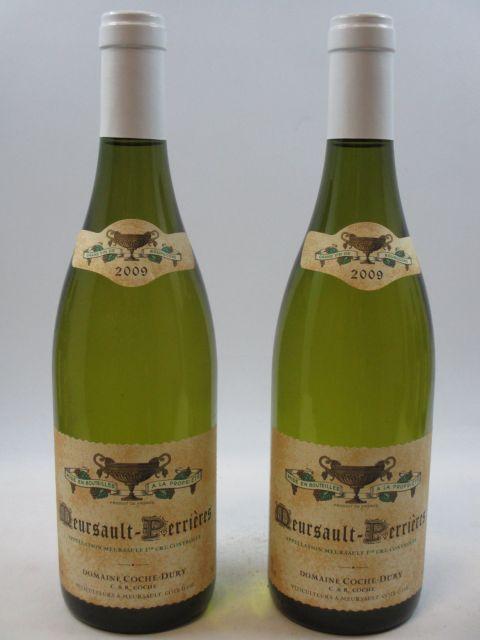 2 bouteilles MEURSAULT 2009 1er cru les Perrières