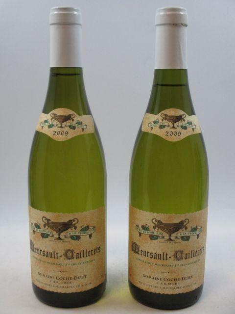 2 bouteilles MEURSAULT 2009 1er cru Caillerets