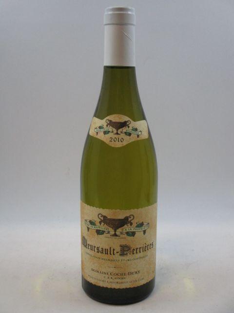 1 bouteille MEURSAULT 2010 1er cru les Perrières