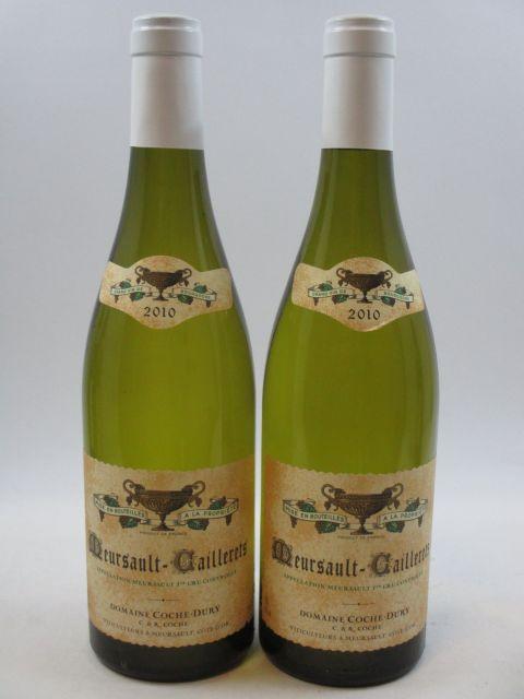 2 bouteilles MEURSAULT 2010 1er cru Caillerets