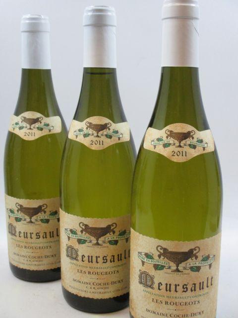 6 bouteilles MEURSAULT 2011 Les Rougeots