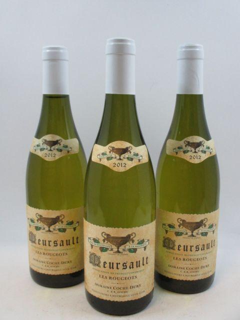 3 bouteilles MEURSAULT 2012 Les Rougeots