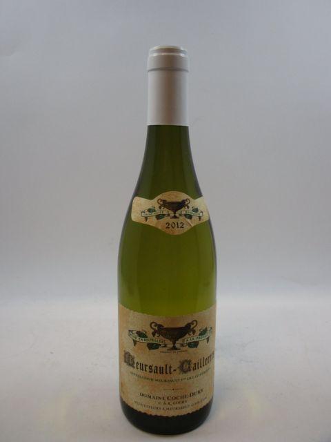 1 bouteille MEURSAULT 2012 1er cru Caillerets