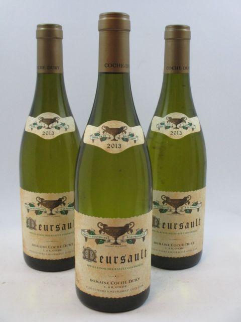 3 bouteilles MEURSAULT 2013 Coche Dury (cave 10)