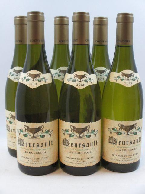 6 bouteilles MEURSAULT 2013 Les Rougeots
