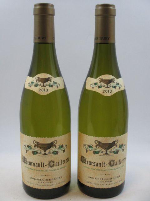 2 bouteilles MEURSAULT 2013 1er cru Caillerets