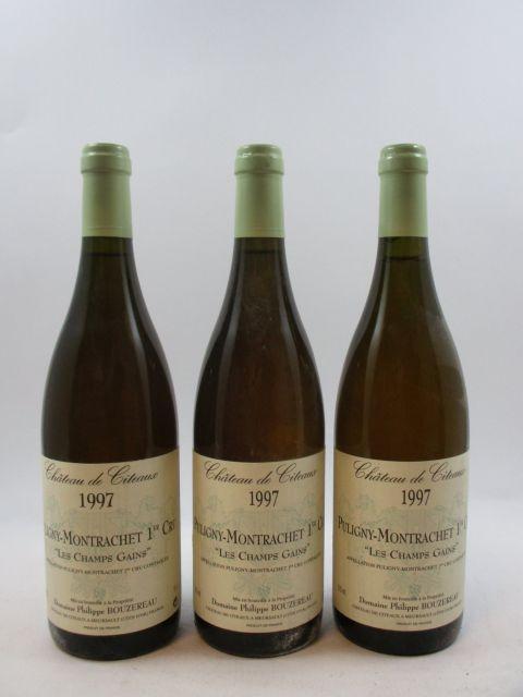 8 bouteilles PULIGNY MONTRACHET 1997 1er cru Les Champs Gains