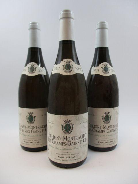 6 bouteilles PULIGNY MONTRACHET 2001 1er cru Les Champs Gains