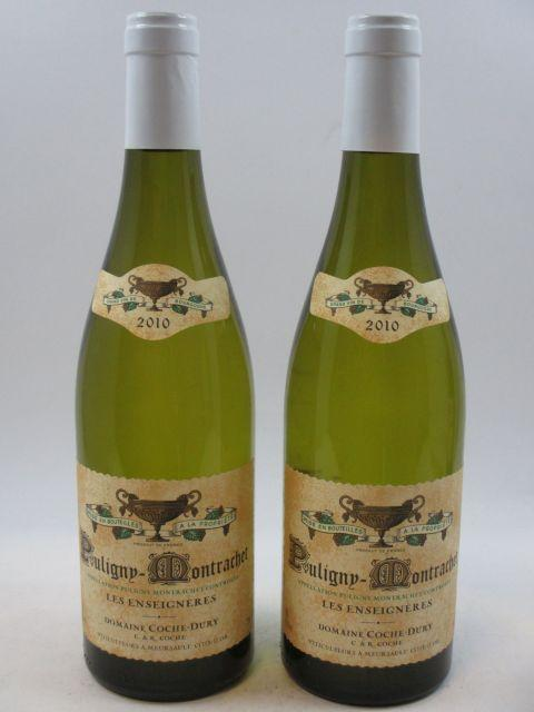 2 bouteilles PULIGNY MONTRACHET 2010 Les Enseignères