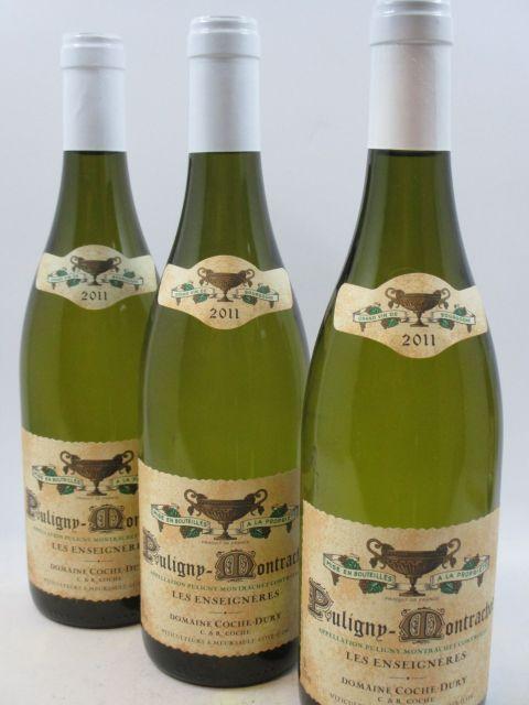 3 bouteilles PULIGNY MONTRACHET 2011 Les Enseignères