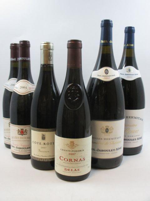6 flacons 1 bt : CORNAS 2007 Chante Perdrix. Delas Frères