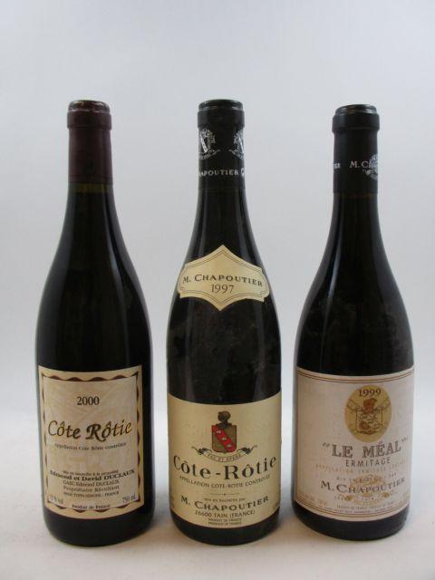8 bouteilles 1 bt : HERMITAGE 1999 Le Méal. Chapoutier
