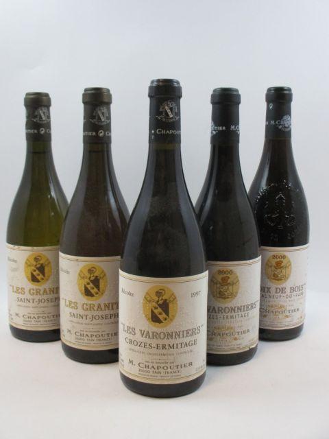 10 bouteilles 3 bts : SAINT JOSEPH 1997 Les Granits. M. Chapoutier (blanc)
