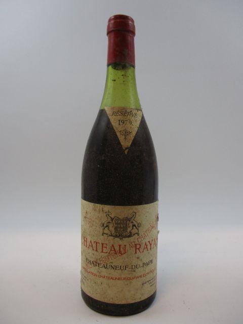 1 bouteille CHATEAUNEUF DU PAPE 1979 Château Rayas (niv
