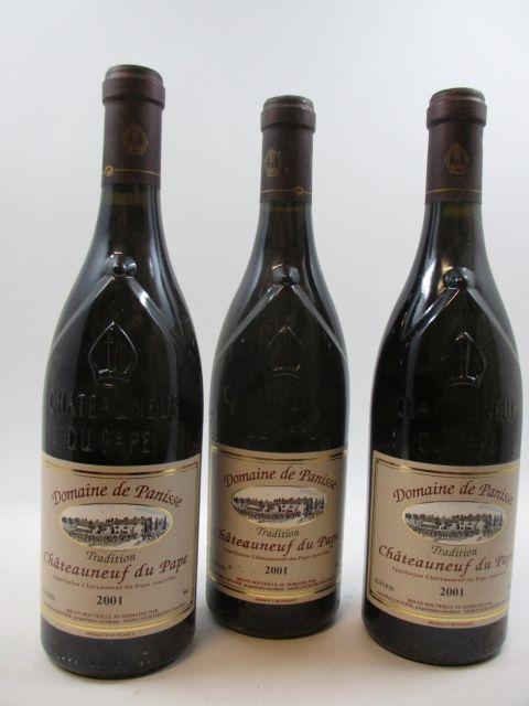 5 bouteilles CHATEAUNEUF DU PAPE 2001 Domaine de Panisse