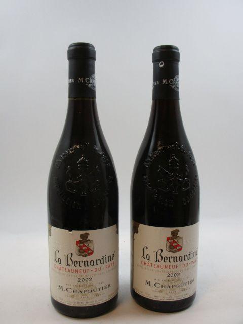 6 bouteilles CHATEAUNEUF DU PAPE 2002 La Bernardine