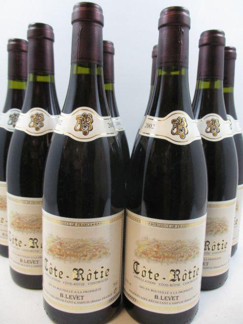 8 bouteilles COTE ROTIE 2002 Bernard Levet