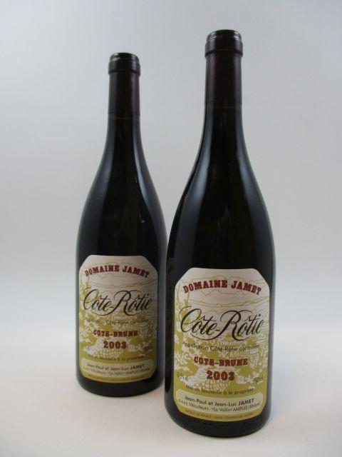2 bouteilles COTE ROTIE 2003 Côte Brune