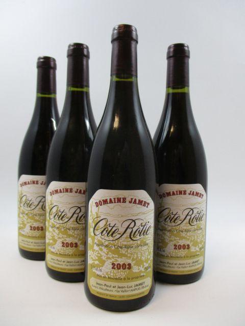 4 bouteilles COTE ROTIE 2003 Domaine Jamet