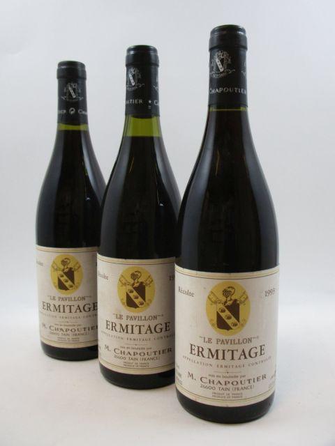 3 bouteilles ERMITAGE 1993 Le Pavillon