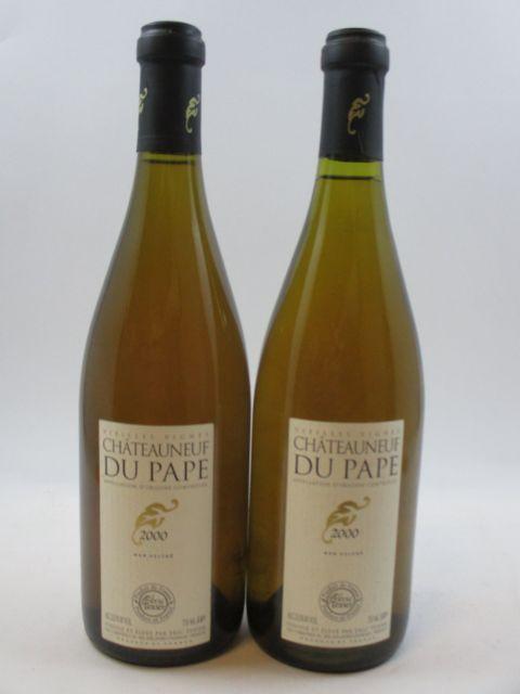 10 bouteilles CHÂTEAUNEUF DU PAPE 2000 Vieilles Vignes