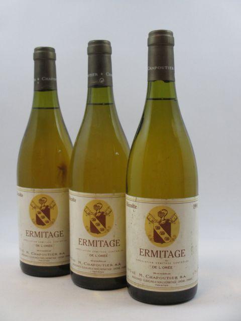6 bouteilles ERMITAGE 1991 de L'Orée (blanc)