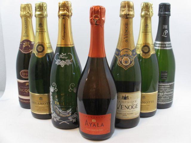 7 bouteilles 1 bt : CHAMPAGNE AYALA Cuvée Rosé. Nature