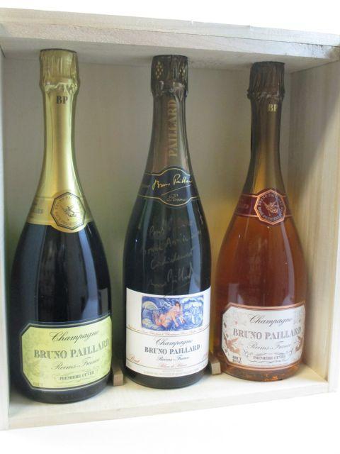 3 bouteilles 1 bt : CHAMPAGNE BRUNO PAILLARD 1996 Blanc de Blanc