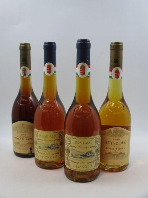 4 bouteilles 1 bt : Hongrie - TOKAJI ASZU 1997 Disznoko. 6 Puttonyos (50 cl)